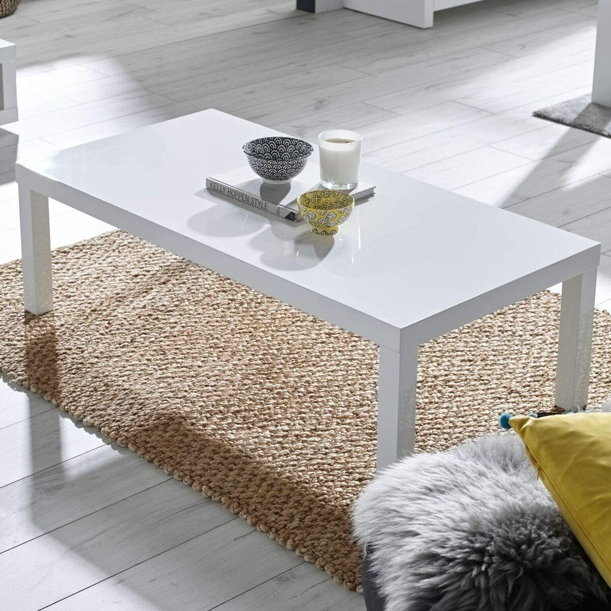 Pin By Home Done On Living Room Furniture White Gloss Coffee