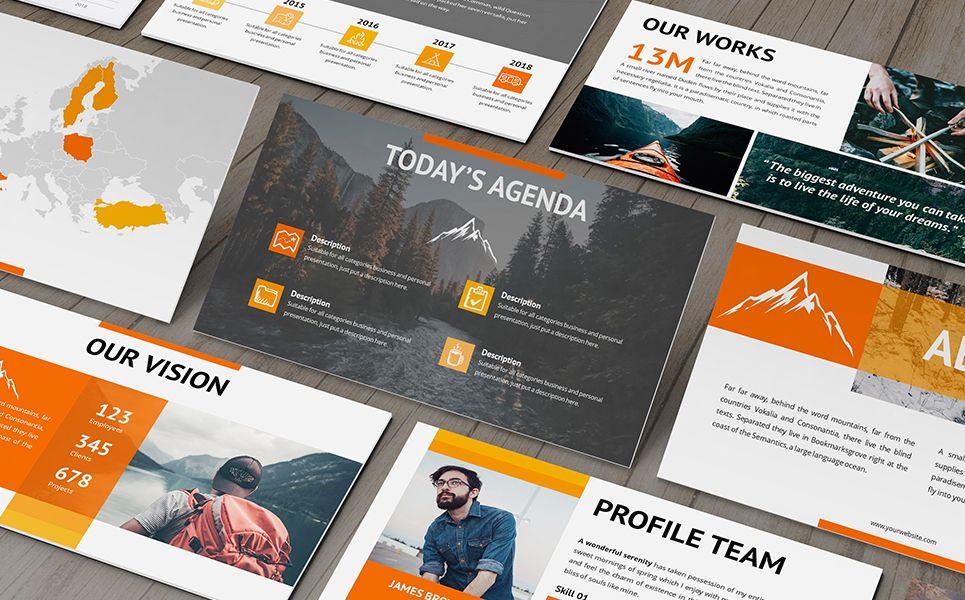 Montana Adventure Powerpoint Template 82147 Business Plan Presentation Templates Web Design Tutorials