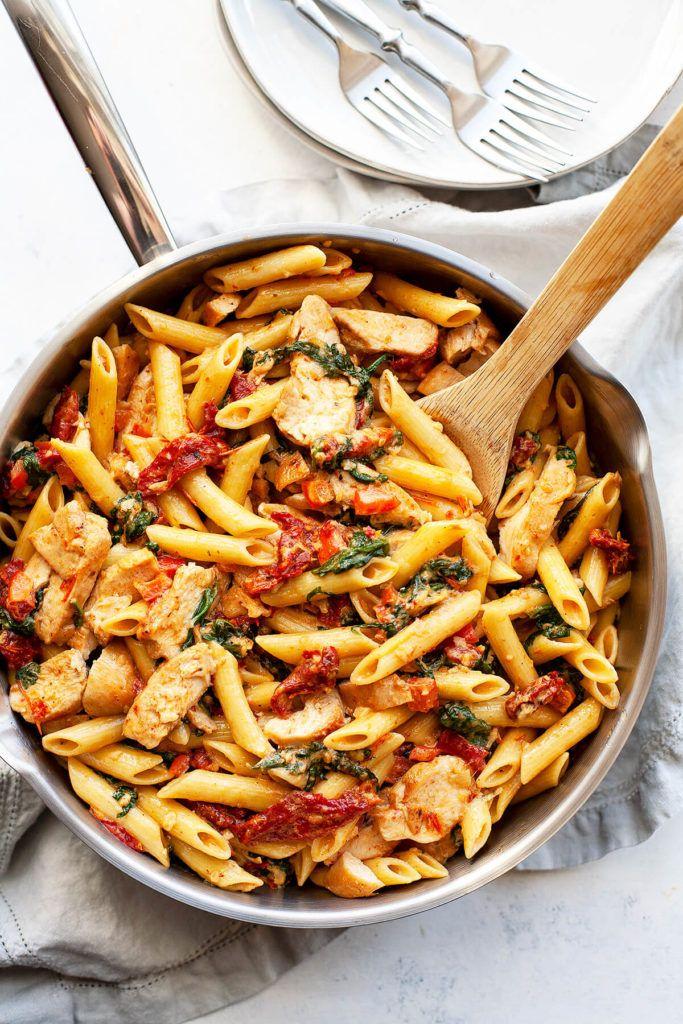 Creamy Tuscan Chicken Pasta | Foodtasia