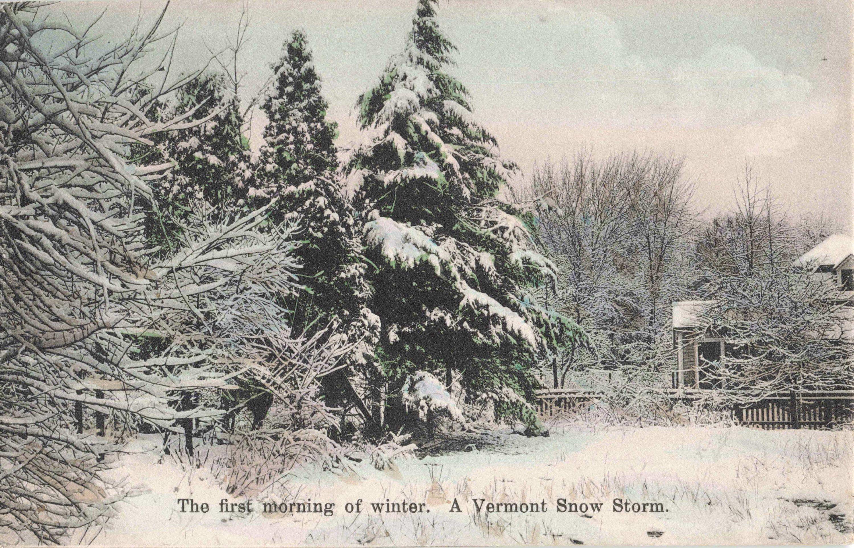 Postcard Vermont Snow Storm In 2020 Postcard Vermont Snow Storm