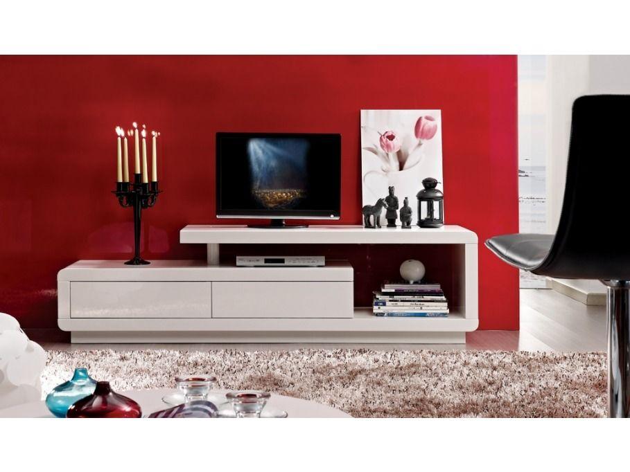 Mueble de tv ref artaban de 170 cm en madera lacada - Decoracion mueble tv ...