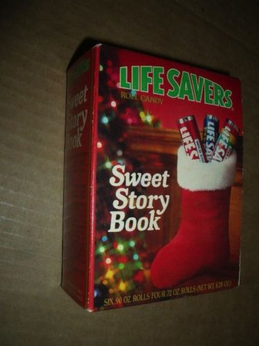vintage lifesaver sweet story book unopened christmas present 10 rolls of candy