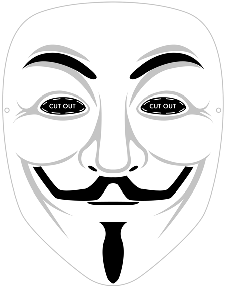 Printable Guy Fawkes mask. #vendetta Halloween for men. Would be ...
