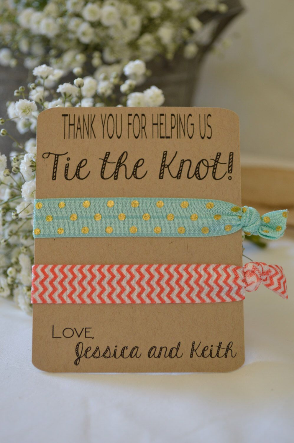 tie the knot wedding invitations etsy%0A Thank You for Helping us Tie the Knot Favor  Set of   by HeathersPartySpot  on