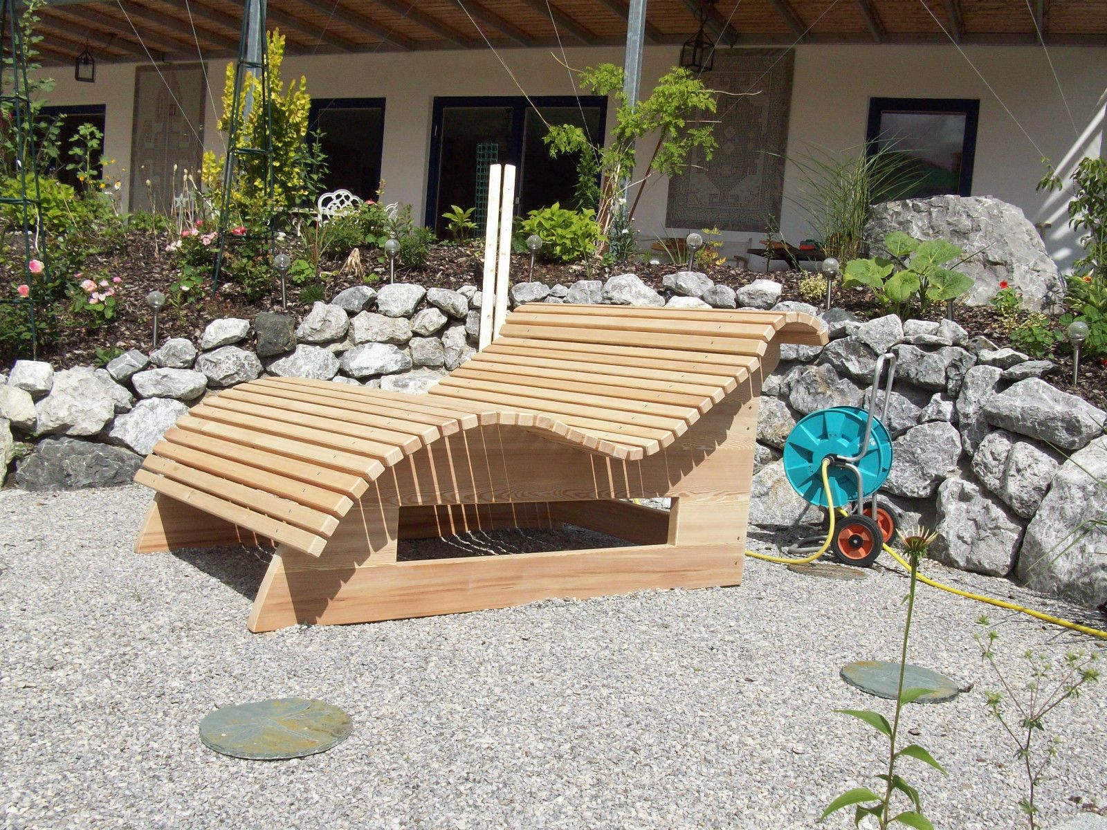 Relaxliege Wellnessliege Holzliege Gartenmöbel Entspannung Wohlfühlliege Ebay Wellnessliege Holzliege Relaxliege Garten