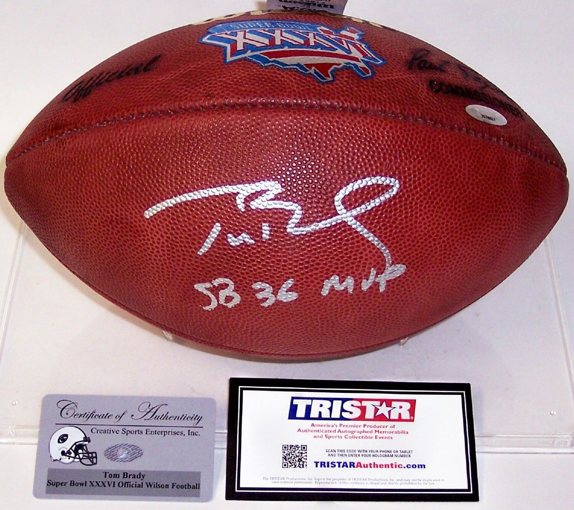 Tom Brady Autographed Hand Signed Super Bowl 36 XXXVI Official Wilson NFL  Leather Football - PSA DNA. eefc219d8