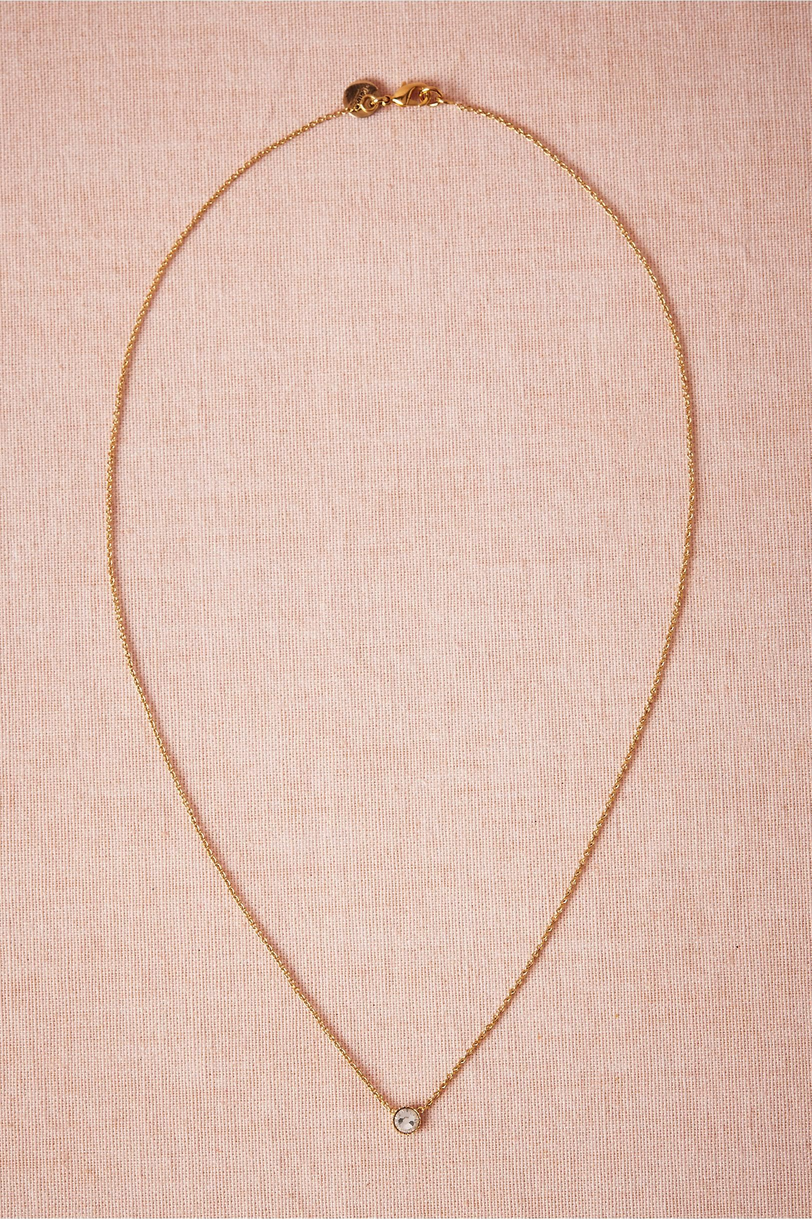 Product beacon necklace from bhldn sweet simple flower girl