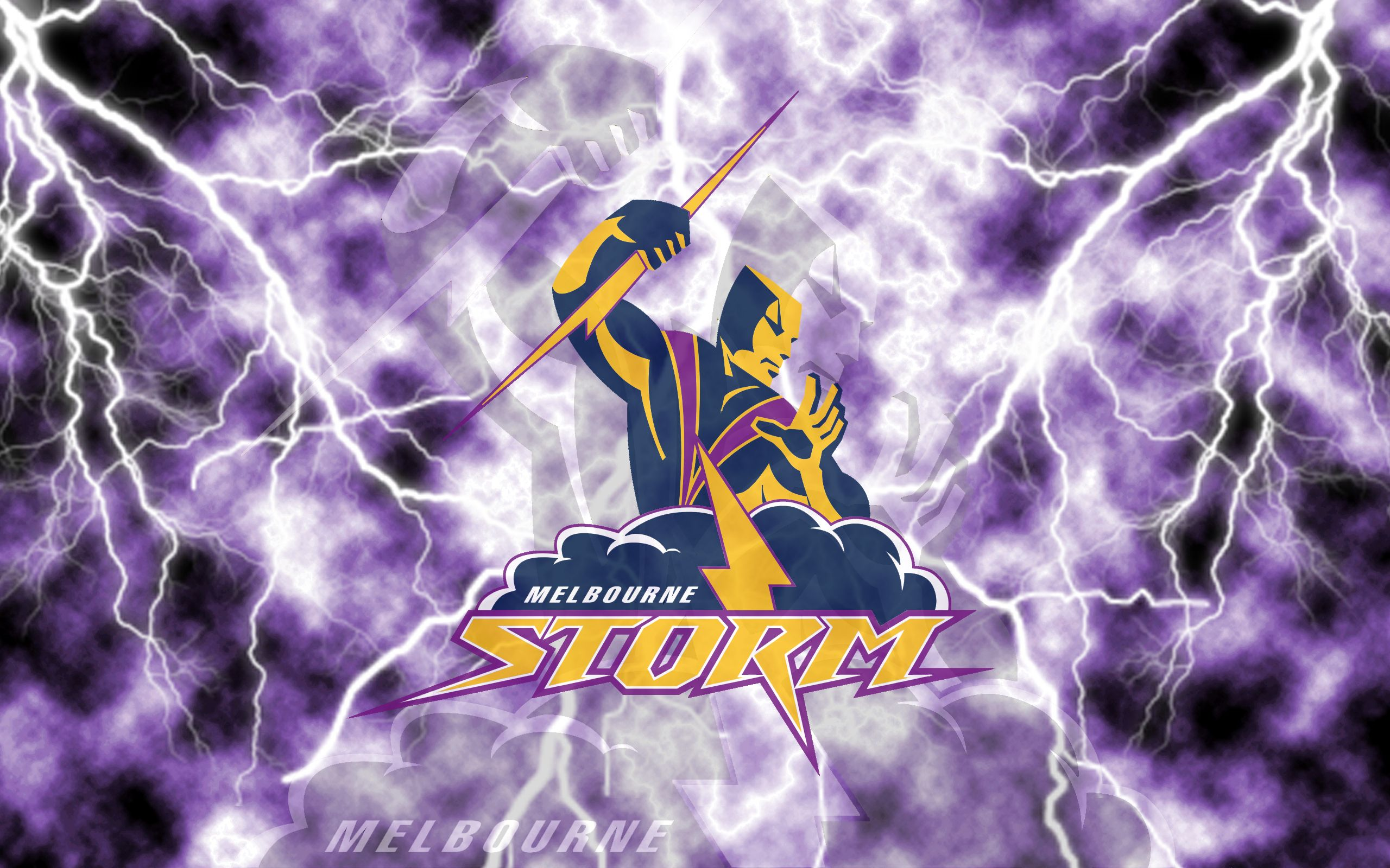 Melbourne Storm Lightning Wallpaper Version 1 By Sunnyboiiii Storm Wallpaper Storm English Dictionaries