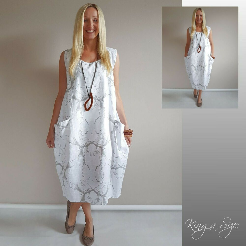 italy sommer kleid lagenlook casual dress lose outfits