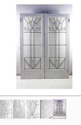 Art Deco Leadlight Double Door Set