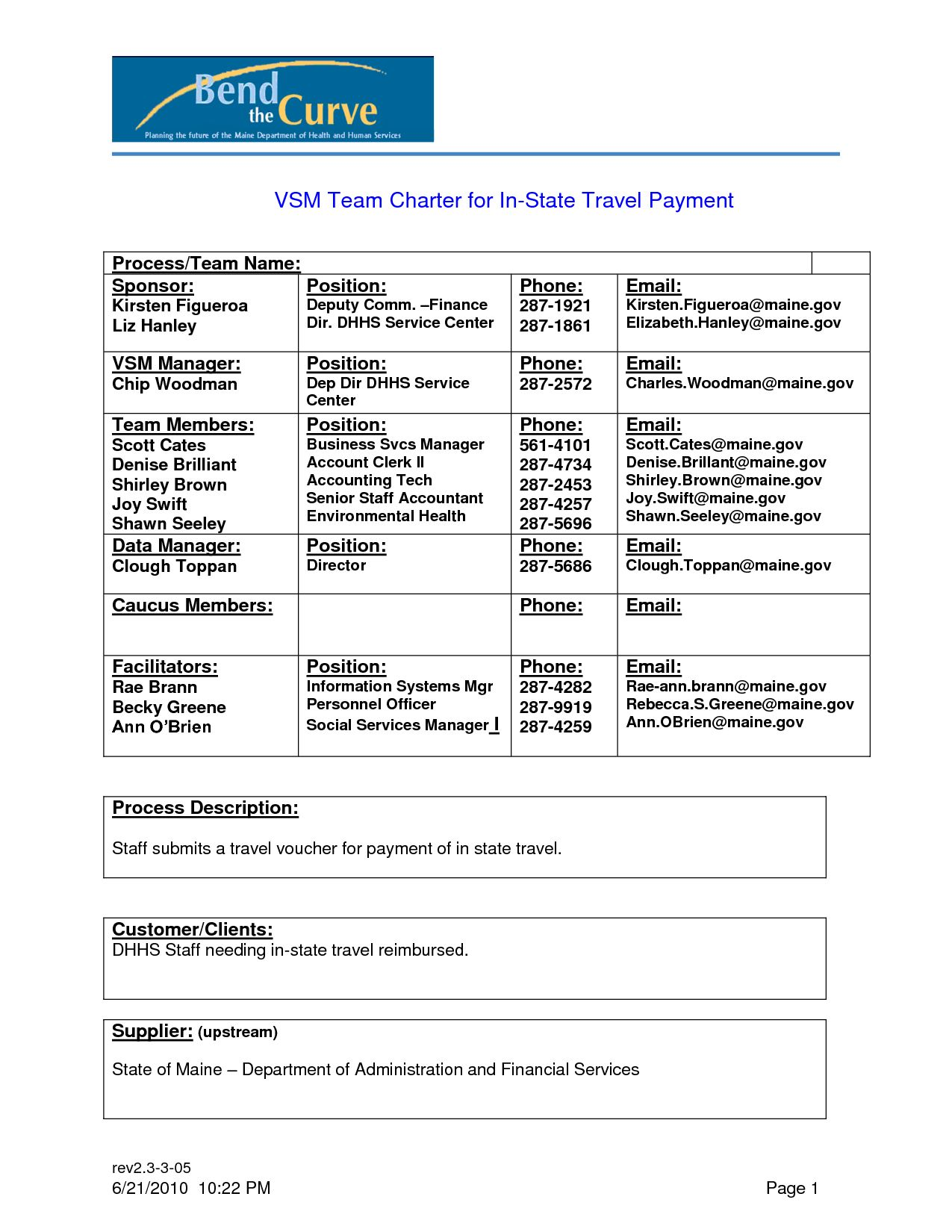 Team Charter Template Examples throughout Team Charter