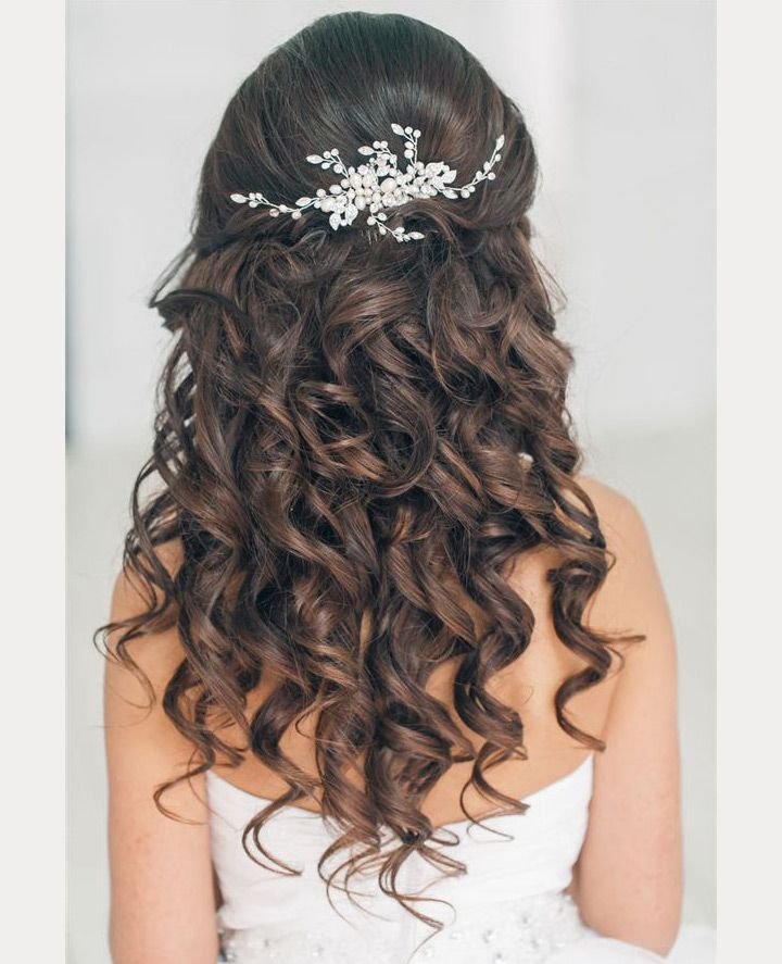 Wedding Hairstyle For Natural Curly Hair: Wedding Inspiration In 2020