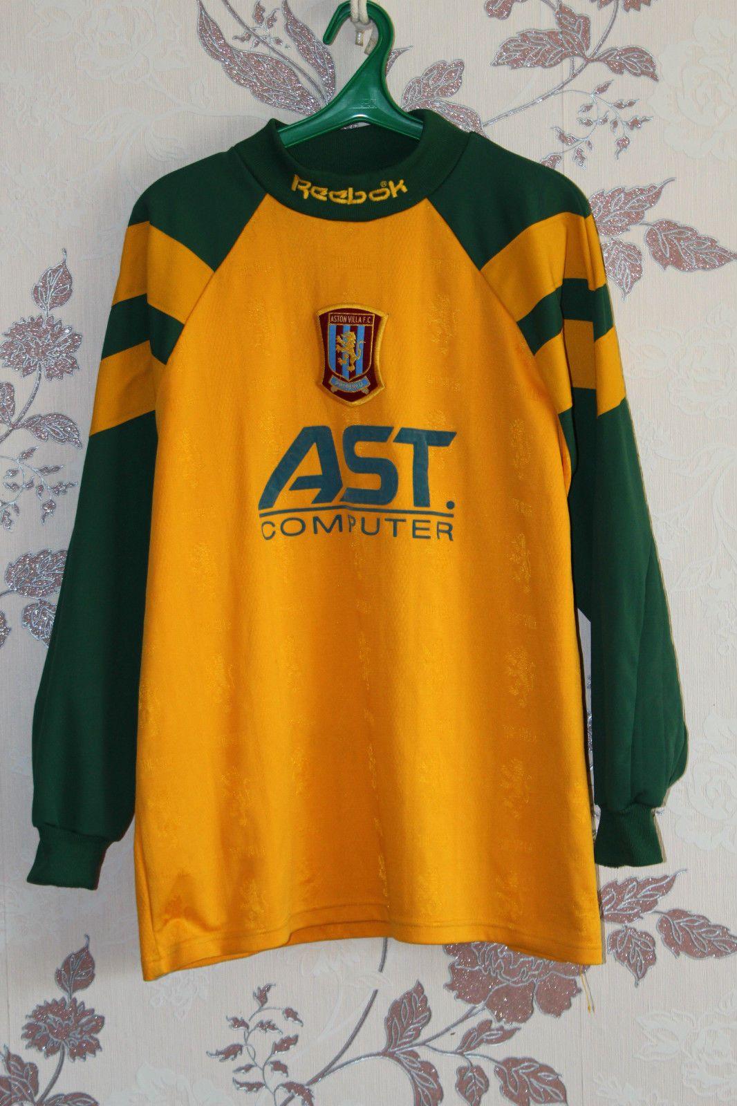 5f4b07bc5e7 Details about ASTON VILLA goalkeeper REEBOK longsleeve AST shirt ...