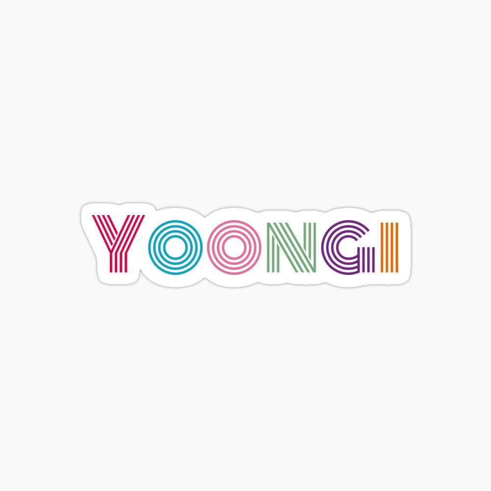 Bts Min Yoongi Dynamite Font Sticker By Serendipitousmt In 2020 Yoongi Bts Tickets Foto Bts