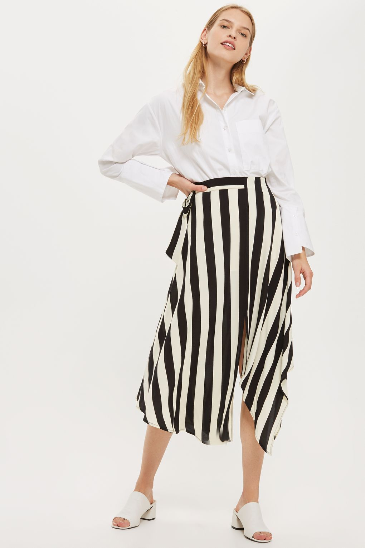 cd3adfdfe3 Stripe Hanky Hem Midi Skirt in 2019   High Street Research   Stripe ...