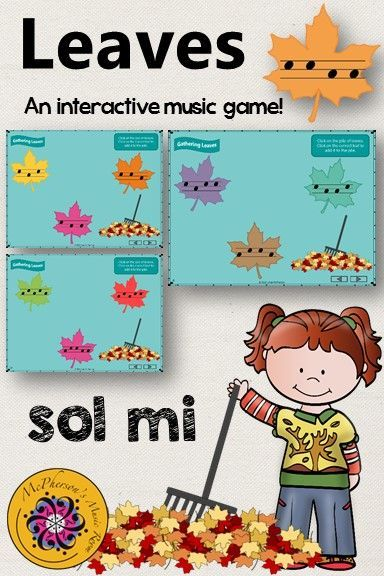 Leaves - Interactive Music Game (Sol Mi) | Elementary music ...