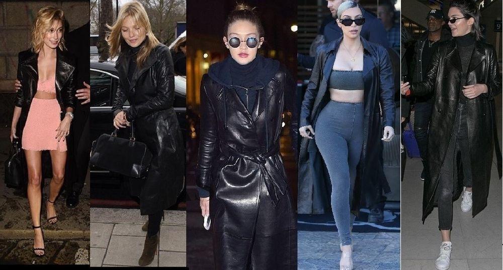 89e6393b23c66 ZARA LEATHER TRENCH COAT S Black Genuine Leather Long Jacket Celebrity  Trend #Zara #Trench #All