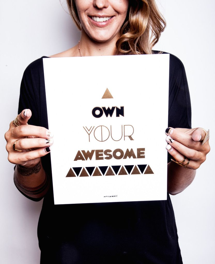 Own Your Awesome™ - 8x10 Art Print