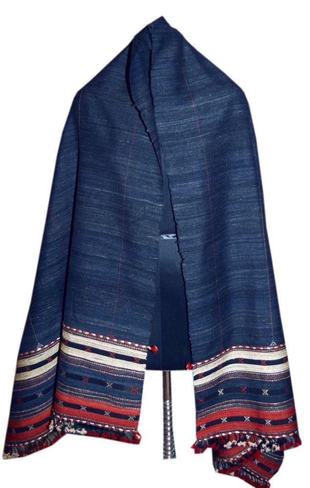 126759d5244 India Handmade shawl / Woolen /Indigo shawl / Khadi / pure wool ...