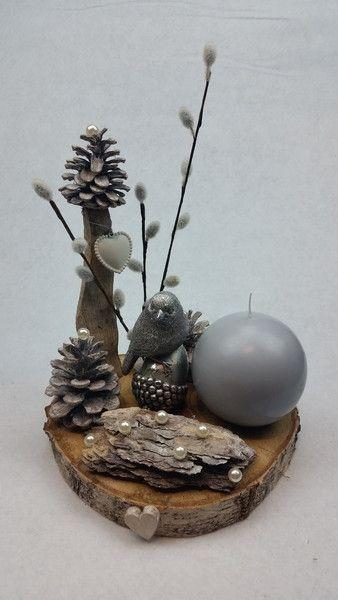 """Winter - Tischkranz """"Winterzauber"""" inkl. Kugelkerze - ein Designerstück von My-Sweet-Bambiente bei DaWanda"""