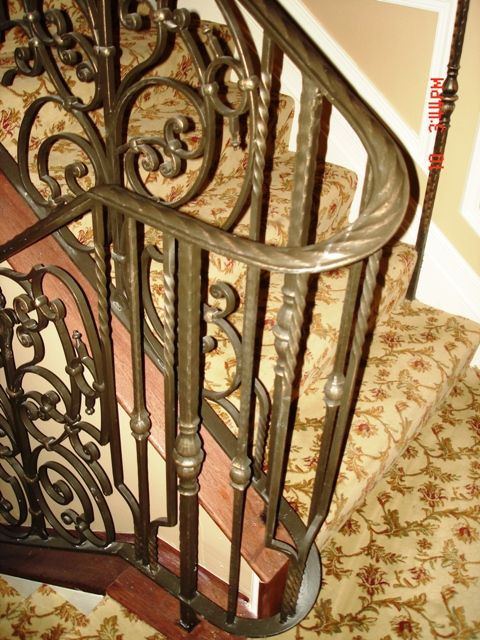 Curvy Bronze Staircase Railing Wrought Iron Railings Staircase Railings Iron Work