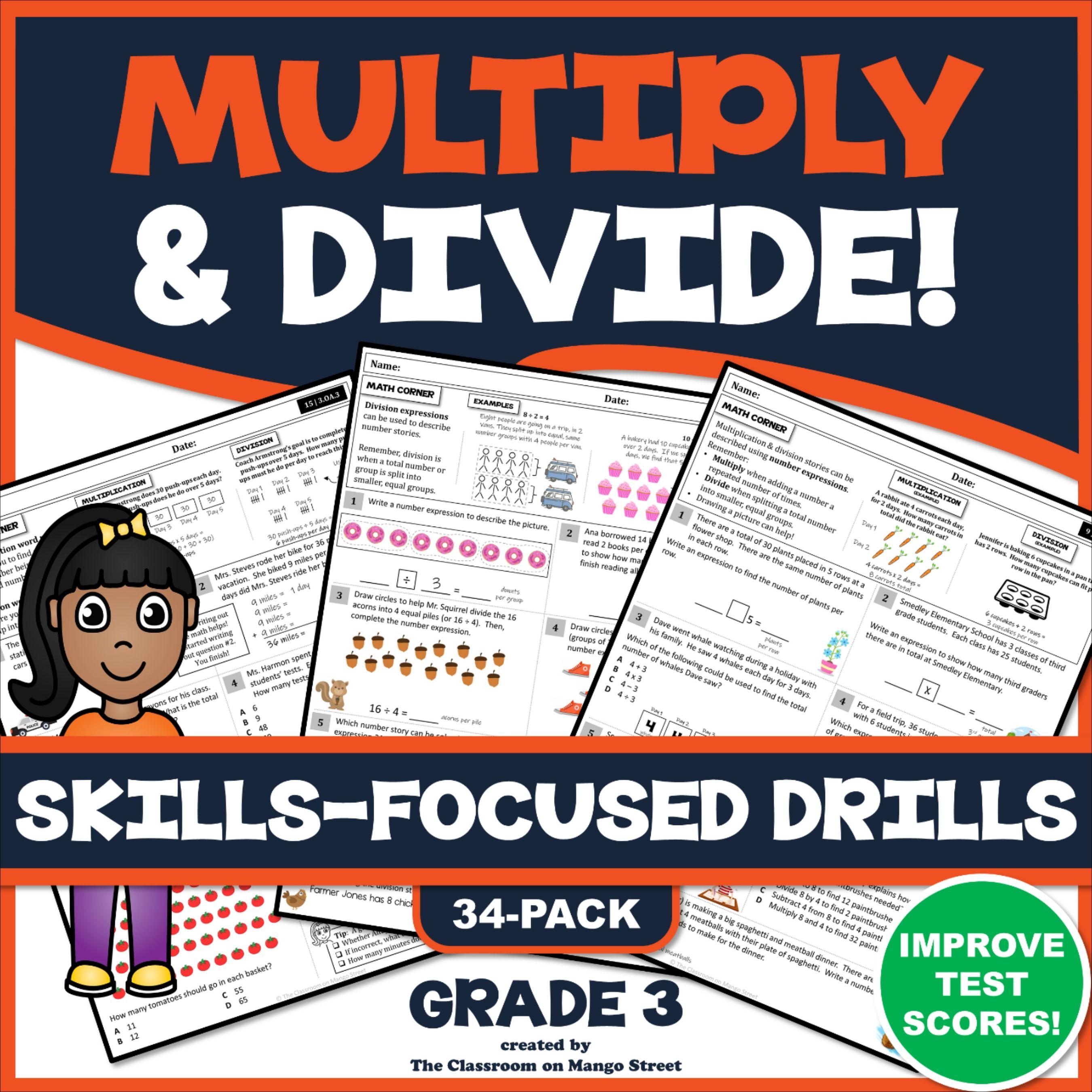 3rd Grade Multiplication Amp Division 34 Skills Boosting