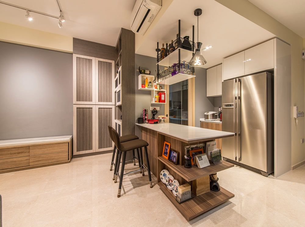 8 ways to do a semi open kitchen in your hdb separating the wet