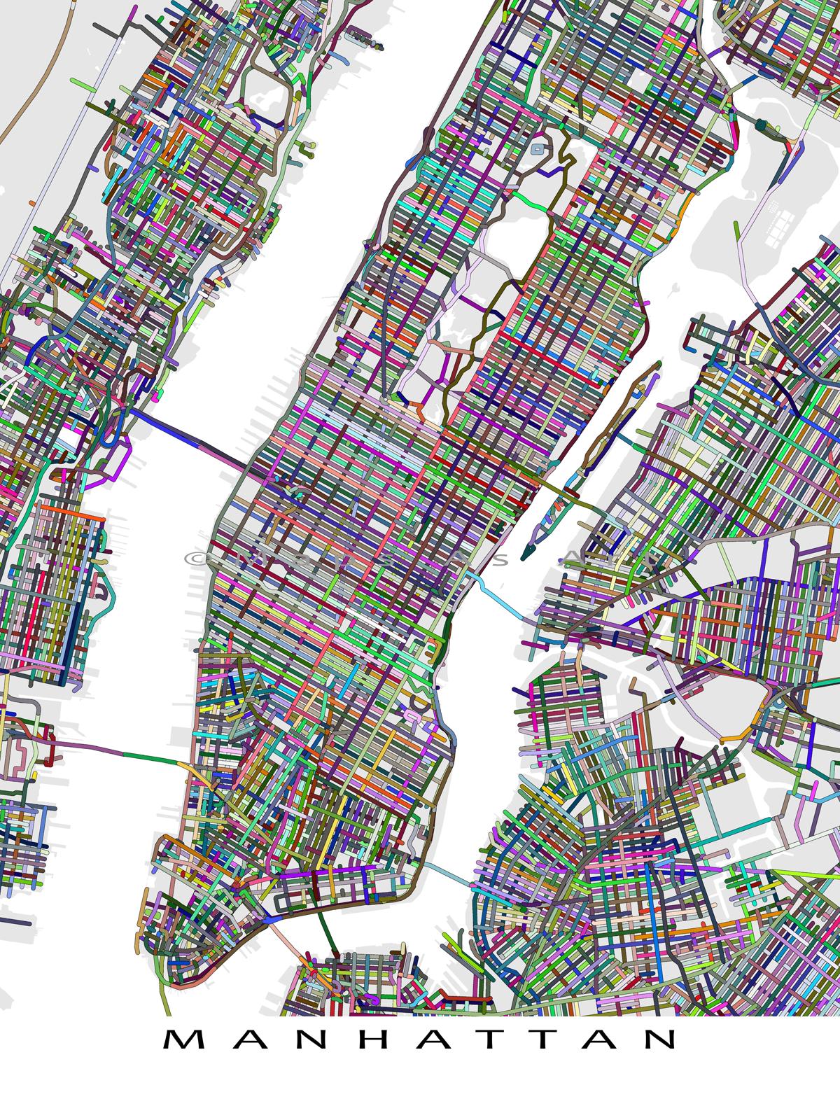 Usa Map Abstract Art