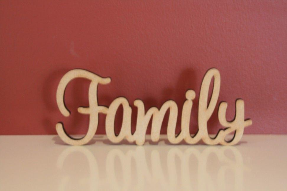 10cm Tall Freestanding Wooden Word Family Wooden Words Custom