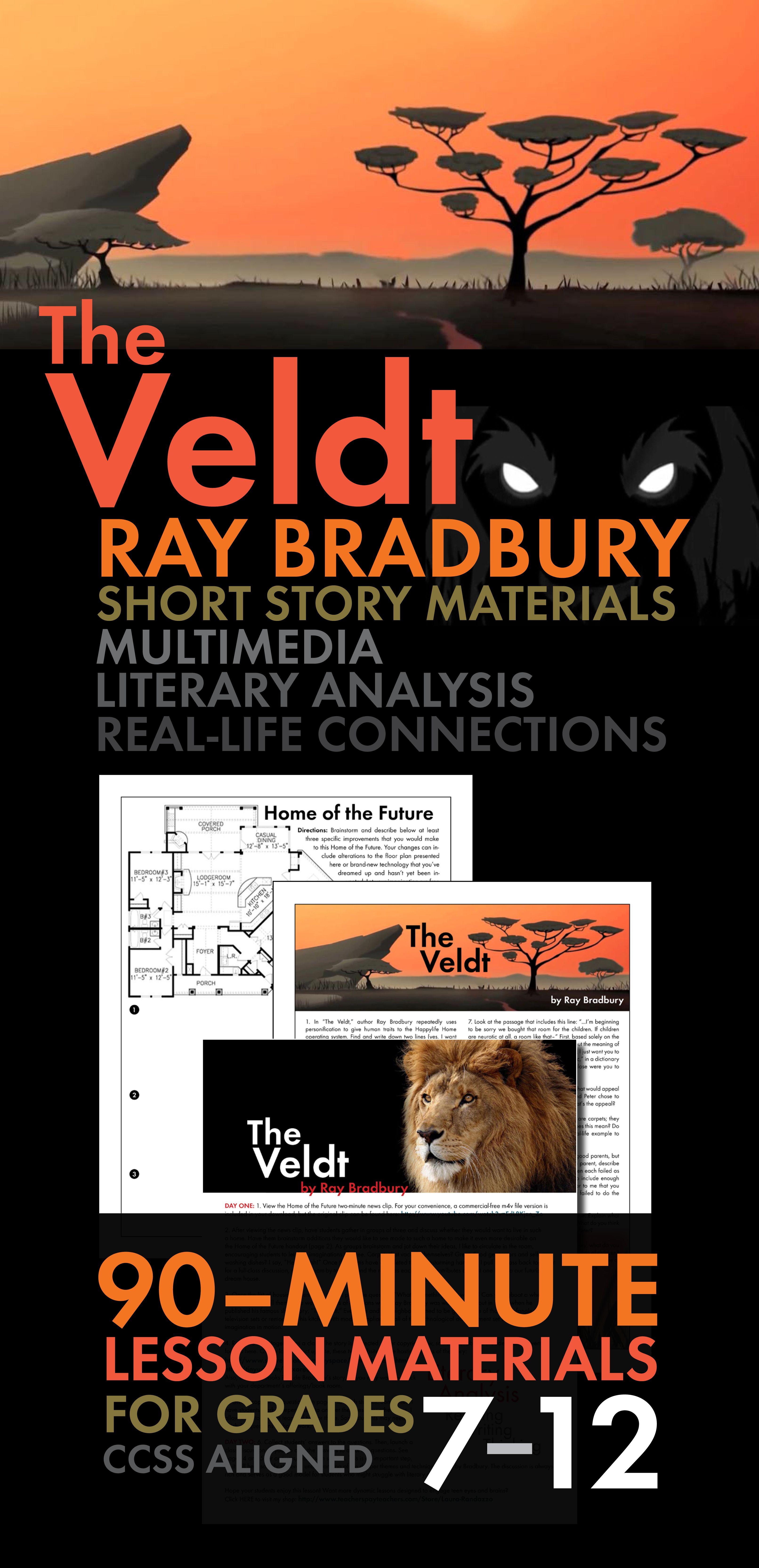 The Veldt Ray Bradbury Short Story Worksheets And
