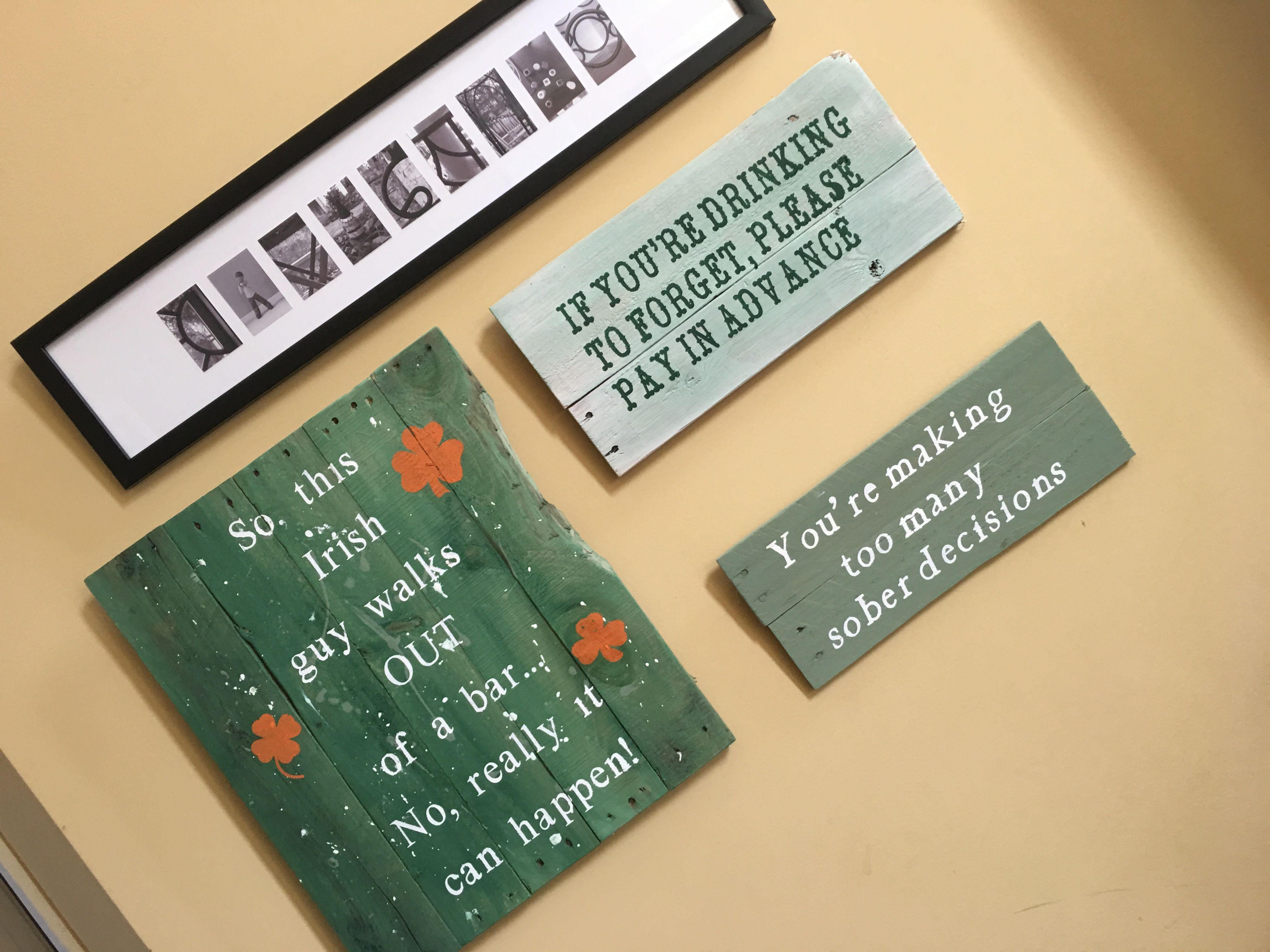 Irish Signs Pub Signs Pallet Signs