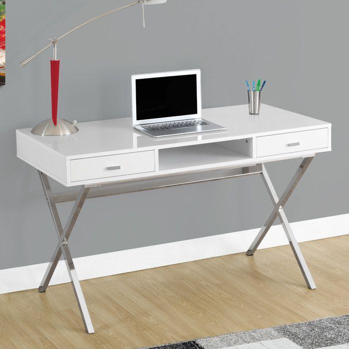 Monarch Specialties Inc Writing Desk Reviews Wayfair White Computer Desk White Desk Office Metal Computer Desk