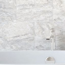 Wickes Amalfi Slate Grey Ceramic Tile 360 X 275mm Tiles
