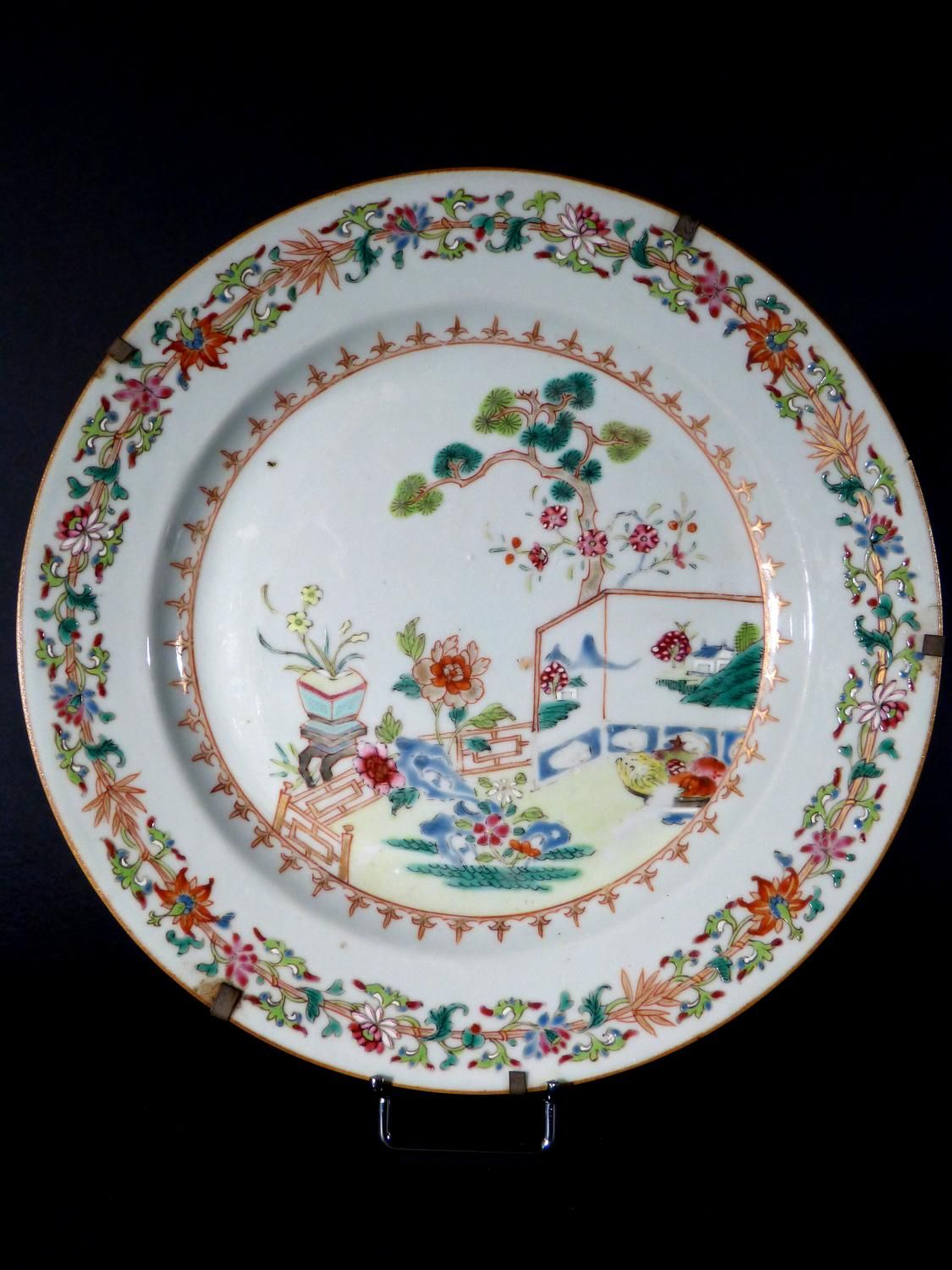 Antique for sale Qing porcelain chinese plate famille rose