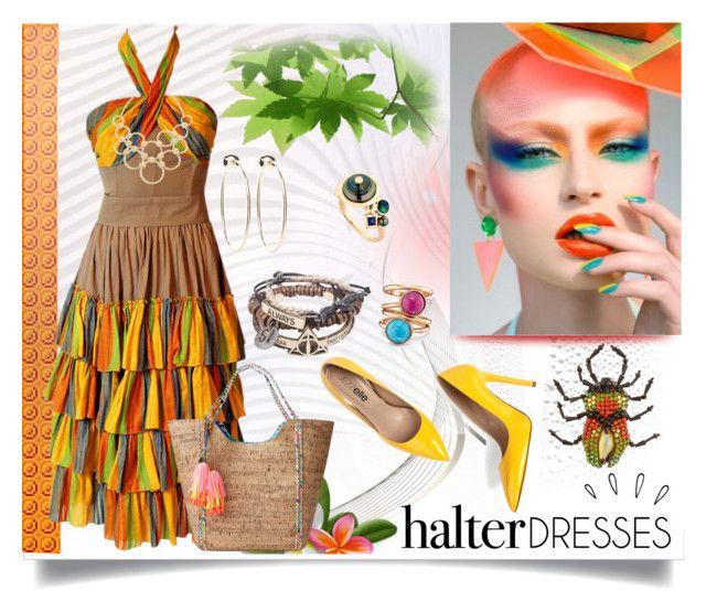 """Halter Dress"" by jeneric2015 ❤ liked on Polyvore featuring Old Navy, Lilly Pulitzer, Gucci, Vera Bradley, Bebe, Avon, BIBI VAN DER VELDEN, NightOut and halterdresses"