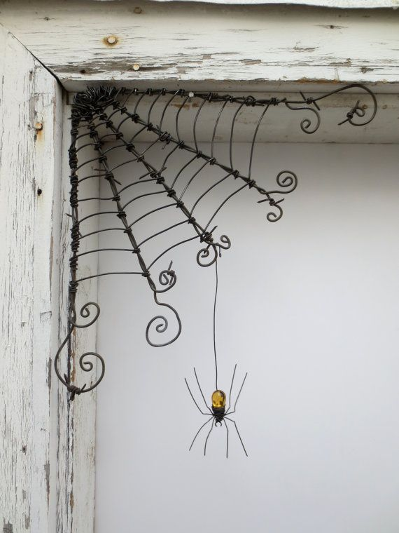 Czechoslovakian Blue Spider Dangles From 12\ - halloween decorations spider