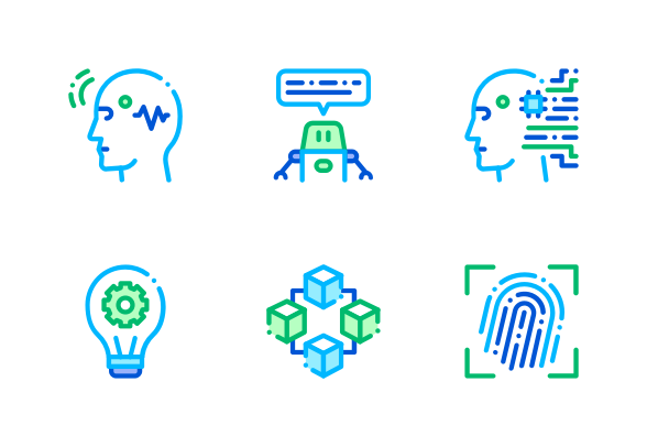 Artificial Intelligence Icons By Pike Picture Artificial Intelligence Technology Machine Learning Artificial Intelligence Artificial Intelligence Algorithms