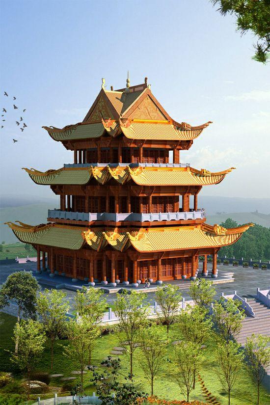 Pagoda wallpaper | 32 Creative iPhone 4 Retina Display ...