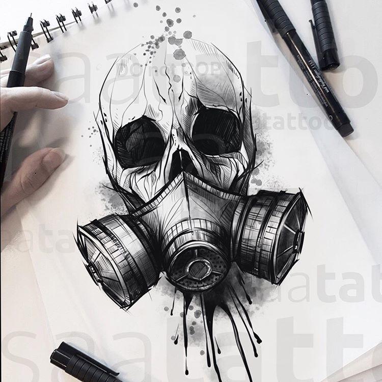 Rysaatattoo On Instagram Chernobyl Vol2 Do Not Copy Chernobyl Tattoodrawing Tattoosketch Graffiti Zeichnung Tattoos Zeichnen Schadelzeichnungen