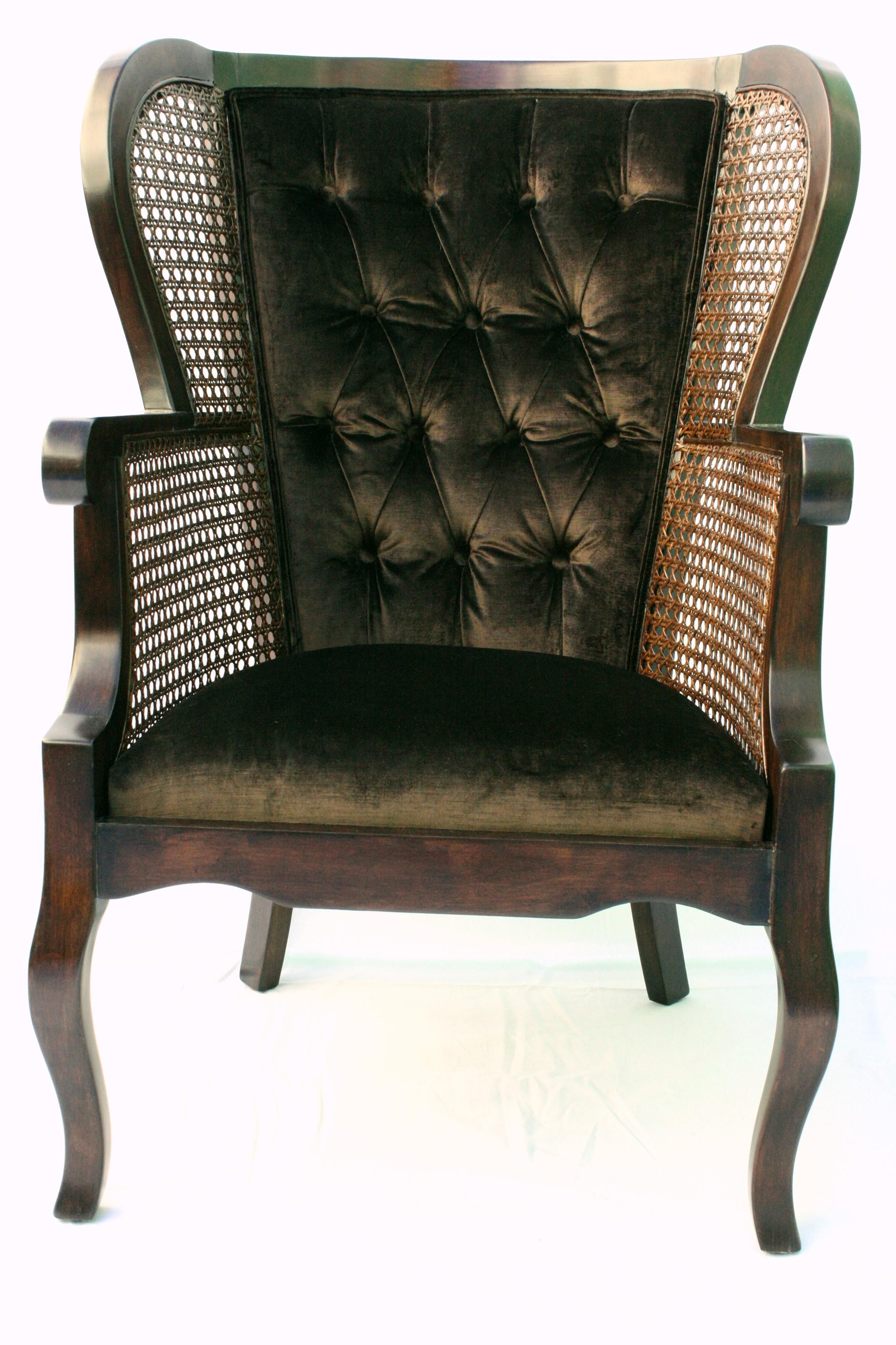 Vintage Regency Cane High Wingback Chair Wingback chair