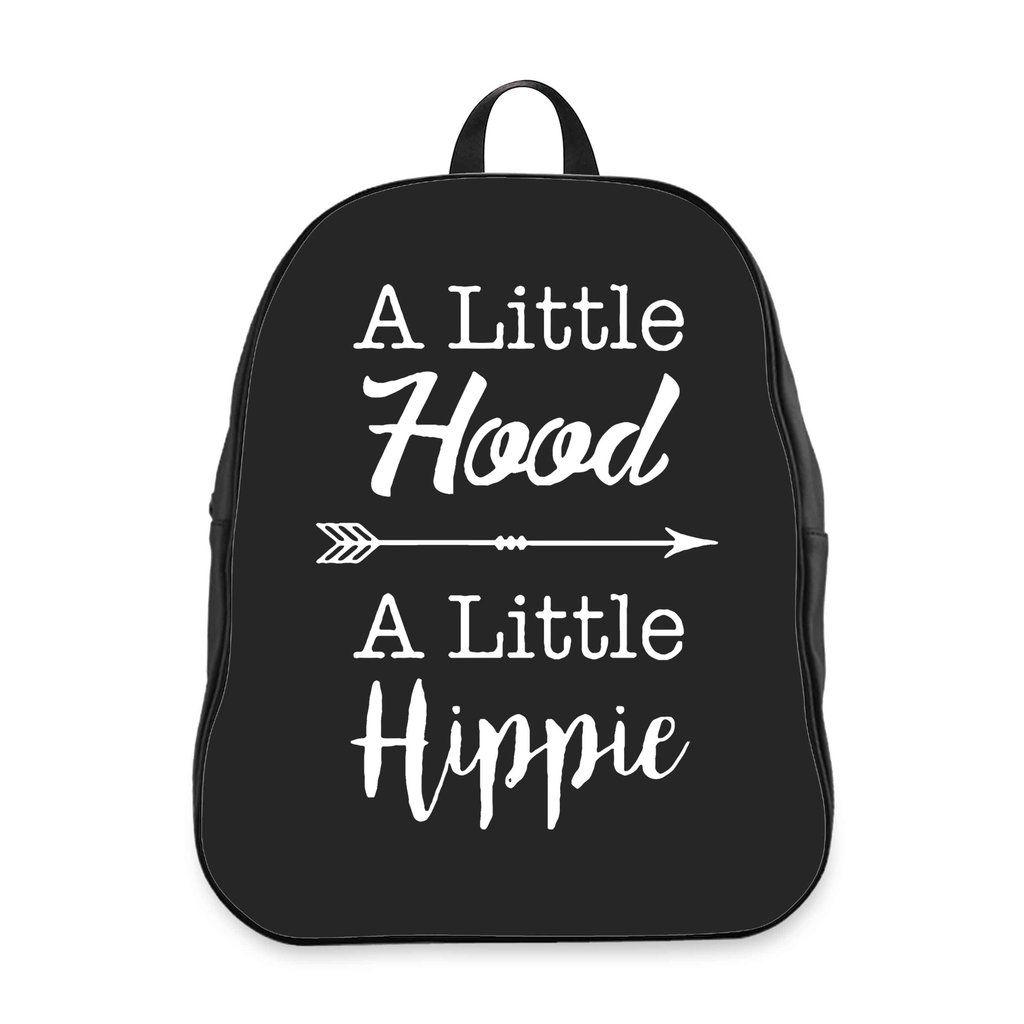 A Little Hood A Little Hippie School Backpacks Bag