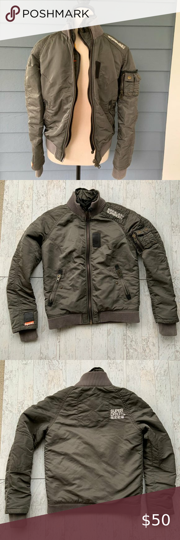 Superdry Military Bomber Jacket Coat Quilted S Military Bomber Jacket Bomber Jacket Coats Jackets [ 1740 x 580 Pixel ]