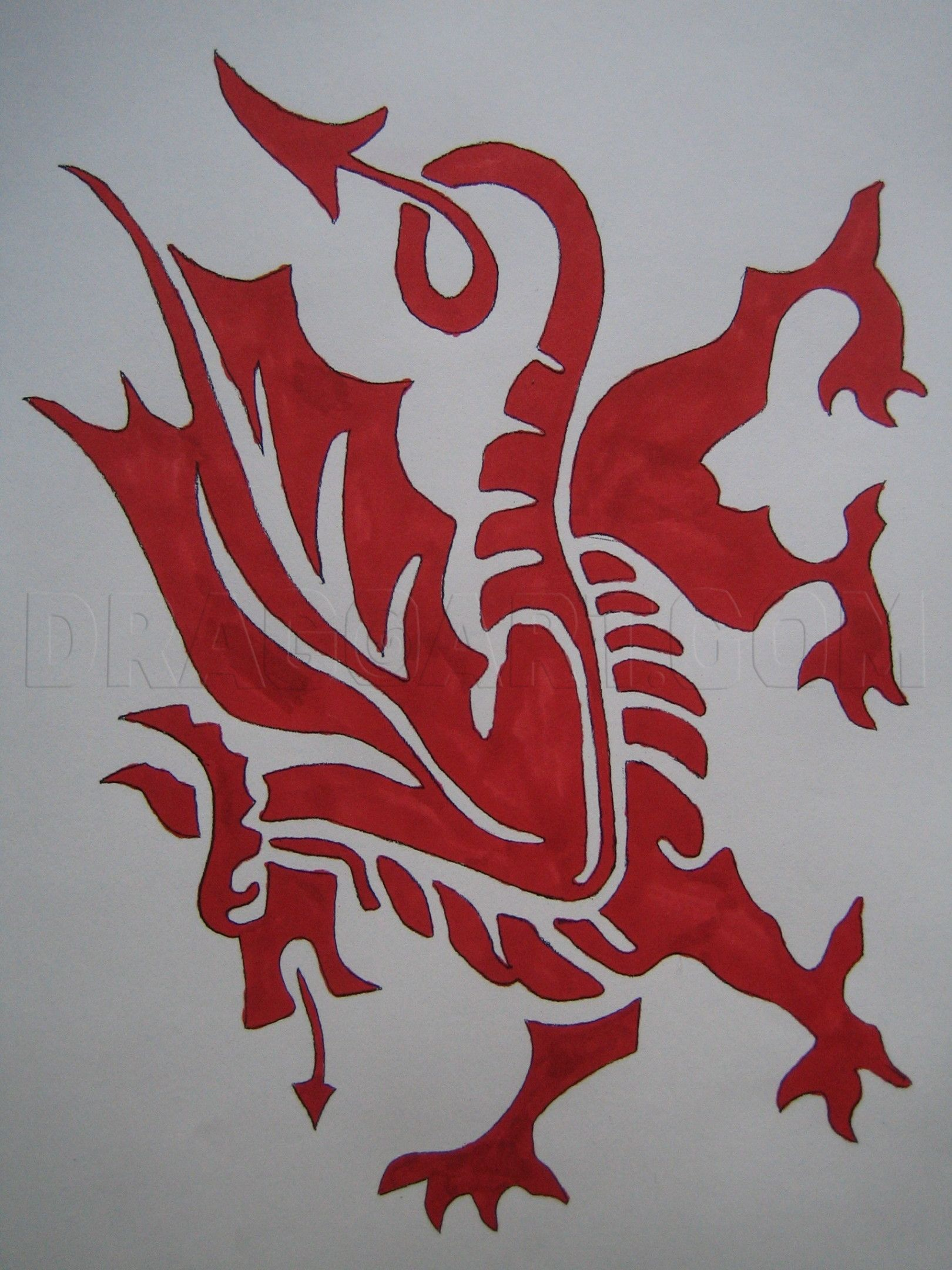 How To Draw The Welsh Dragon Step By Step Drawing Guide By Groucho101 Dragoart Com Welsh Dragon Dragon Silhouette Drawings [ 2160 x 1620 Pixel ]