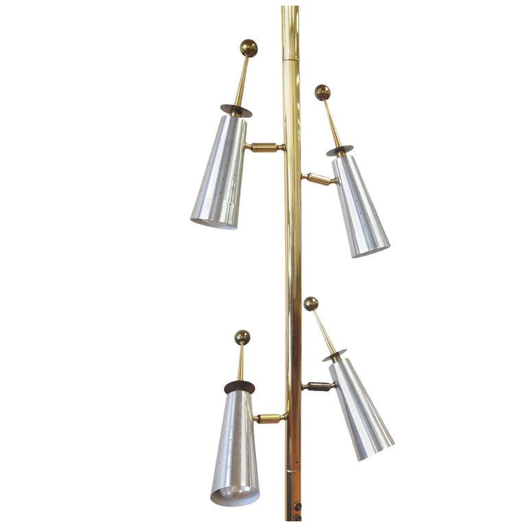 Rare Stiffel Futura Four Light Tension Pole Lamp In 2019