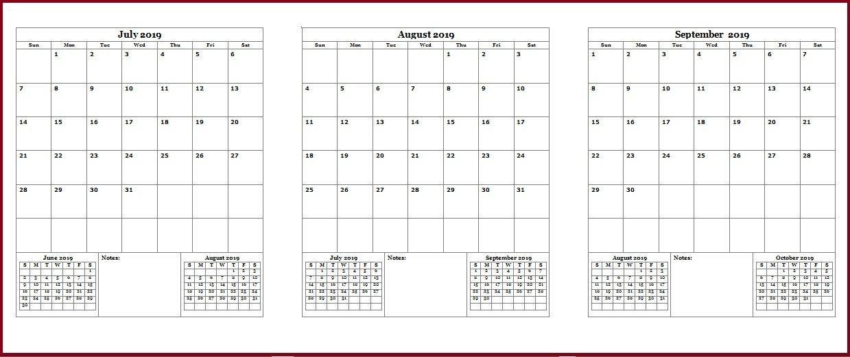 2019 Quarter Printable Calendar Quarterly Calendar Calendar