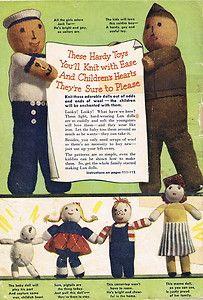 Airman Cloth Dolls Vintage 1940s English Pattern ~ Soldier Sailor