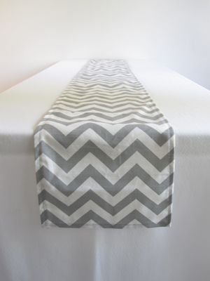 Surprisingly easier to find gray and white chevron print than stripes!