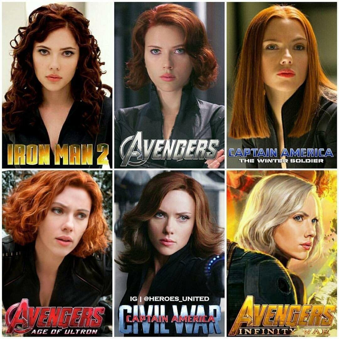 Evolution Of Black Widow Black Widow Marvel Black Widow