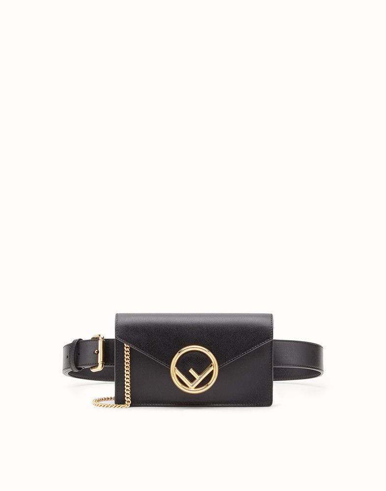 2d2994a69a86 FENDI BELT BAG - Black leather belt bag - view 1 detail