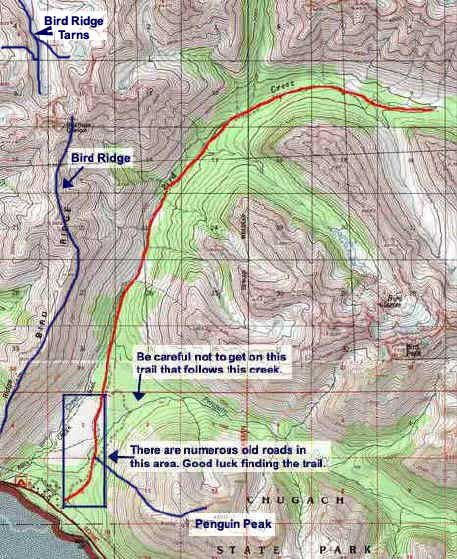 Bird Creek Trail Topo Map Anchorage Hiking Group Pinterest
